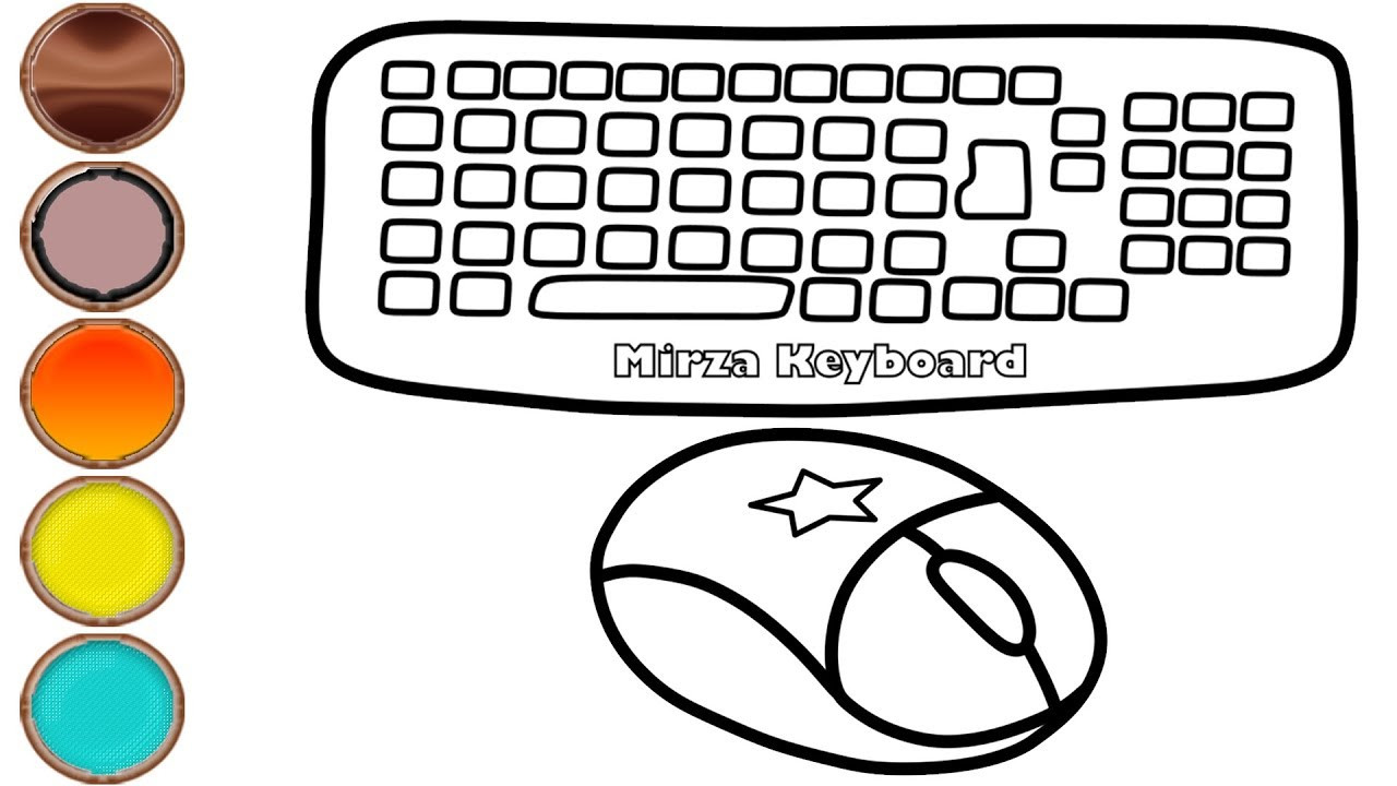 Free Printable Keyboarding Worksheets 56 Stunning Puter Keyboard Coloring Page
