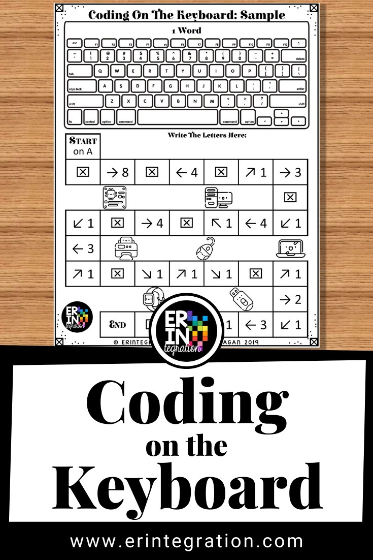 Free Printable Keyboarding Worksheets Coding On the Keyboard to Introduce Coding to Kids and