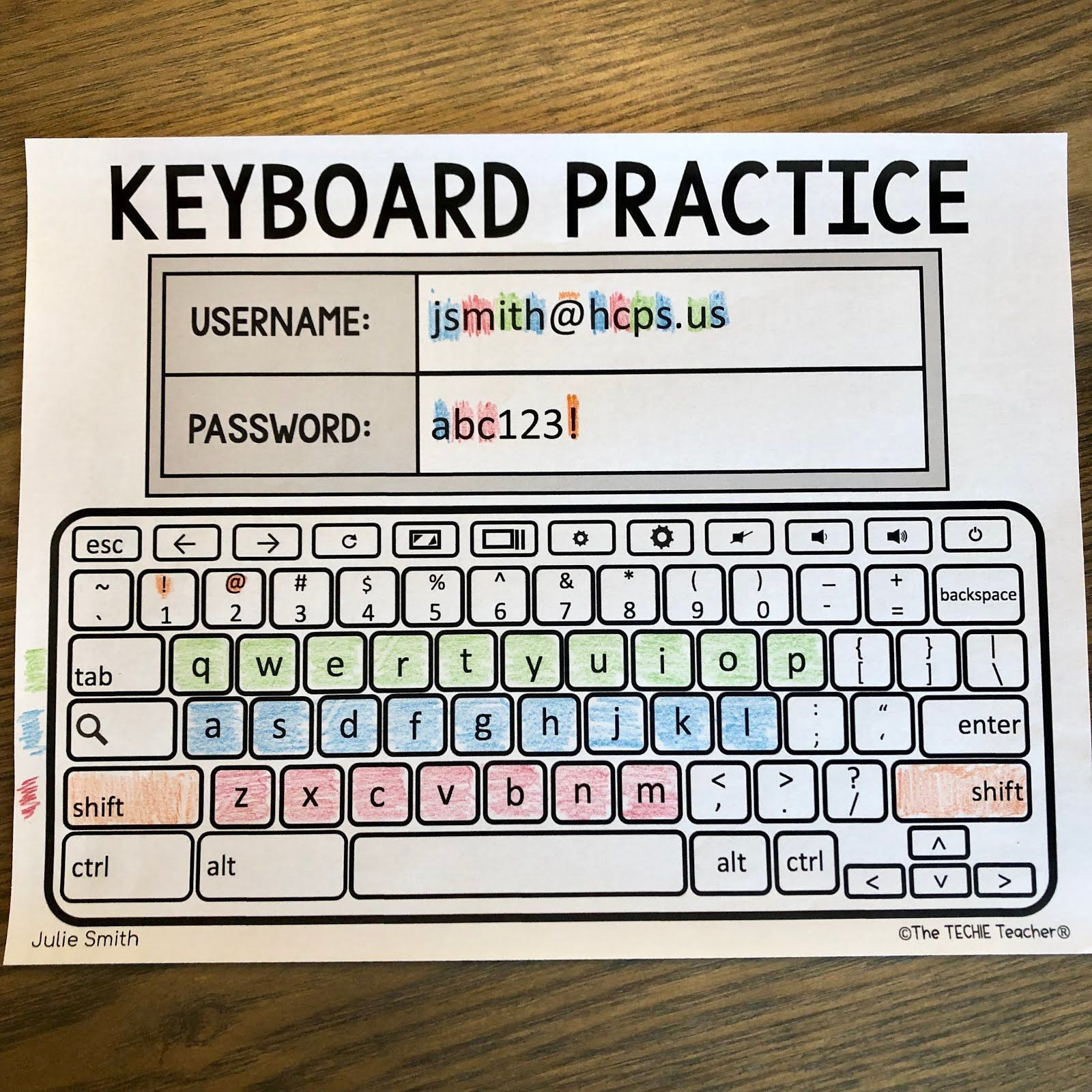 Free Printable Keyboarding Worksheets Typing Keyboard Layout Worksheet