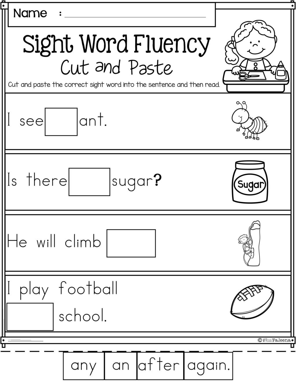 Free Printable Kindergarten Fluency Passages Worksheet Pin Reading Worksheetson First Grade Free