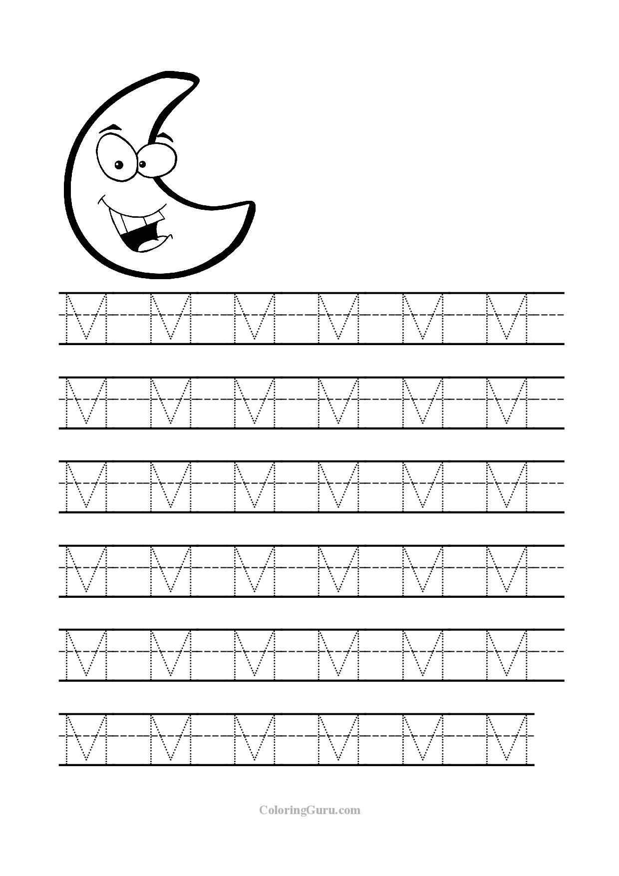 Free Printable Letter M Worksheets Free Printable Tracing Letter M Worksheets for Preschool
