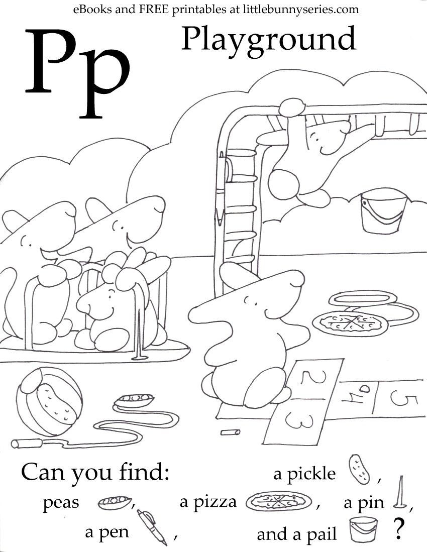 Free Printable Letter P Worksheets Letter P Seek and Find Pdf