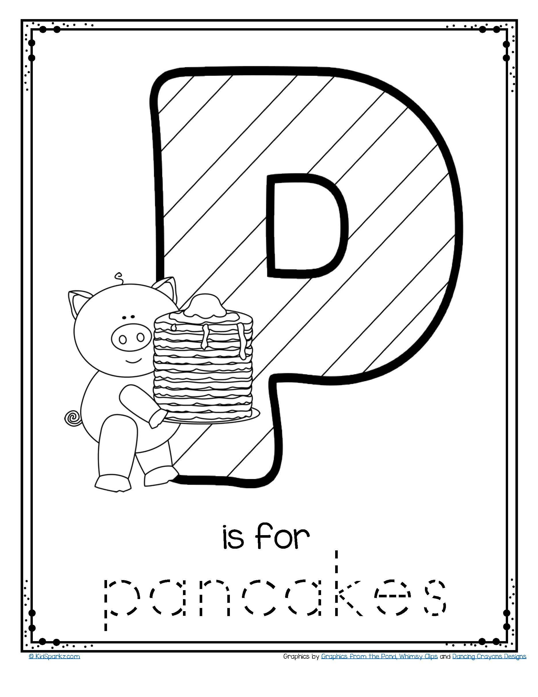 Free Printable Letter P Worksheets Pancake Day 2020 February 25th Free Letter P Trace and Color
