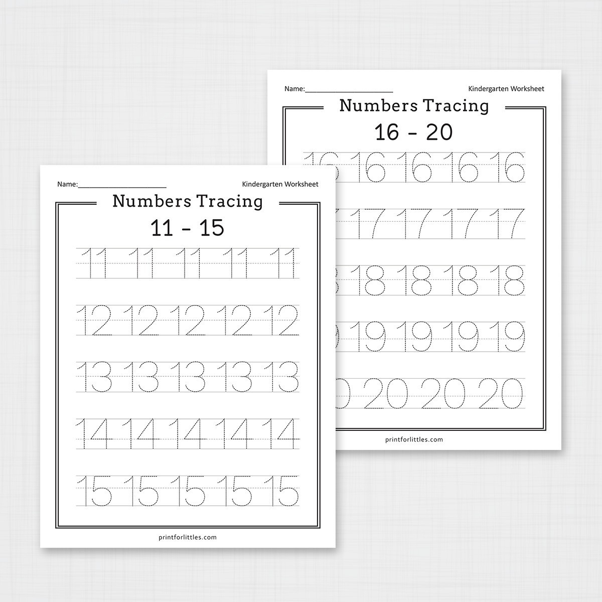 Free Printable Number Tracing Worksheets Numbers 1 20 Tracing Worksheets