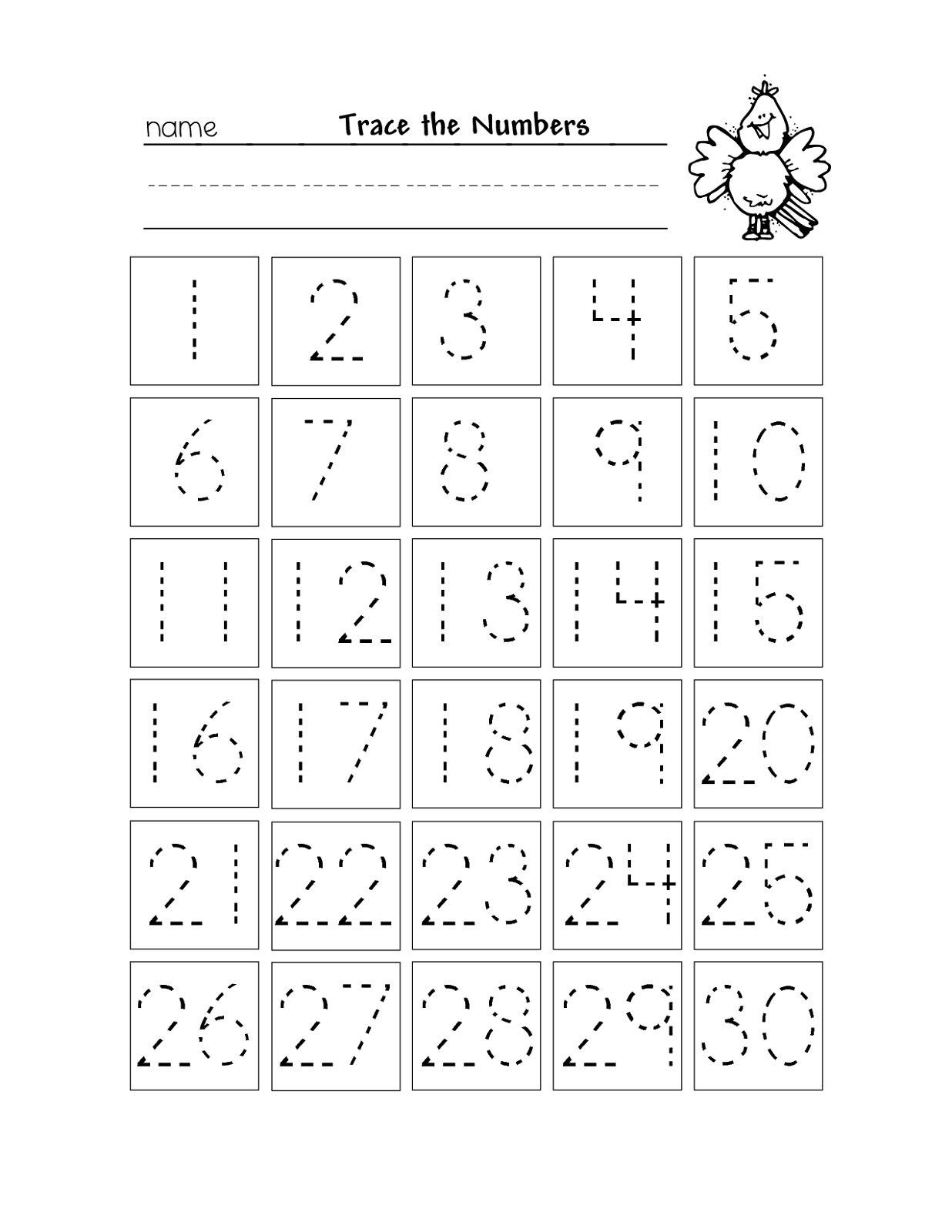 Free Printable Number Tracing Worksheets Pin On Education