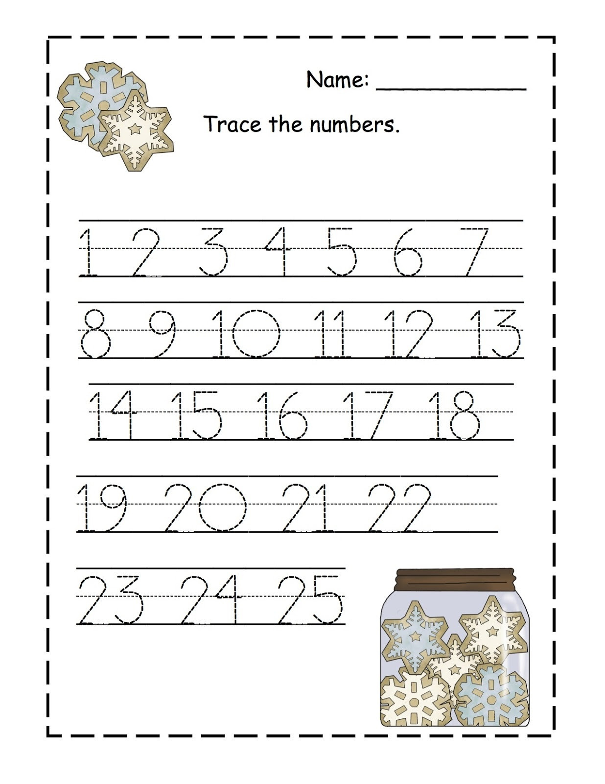 Free Printable Number Tracing Worksheets Trace Numbers 1 100