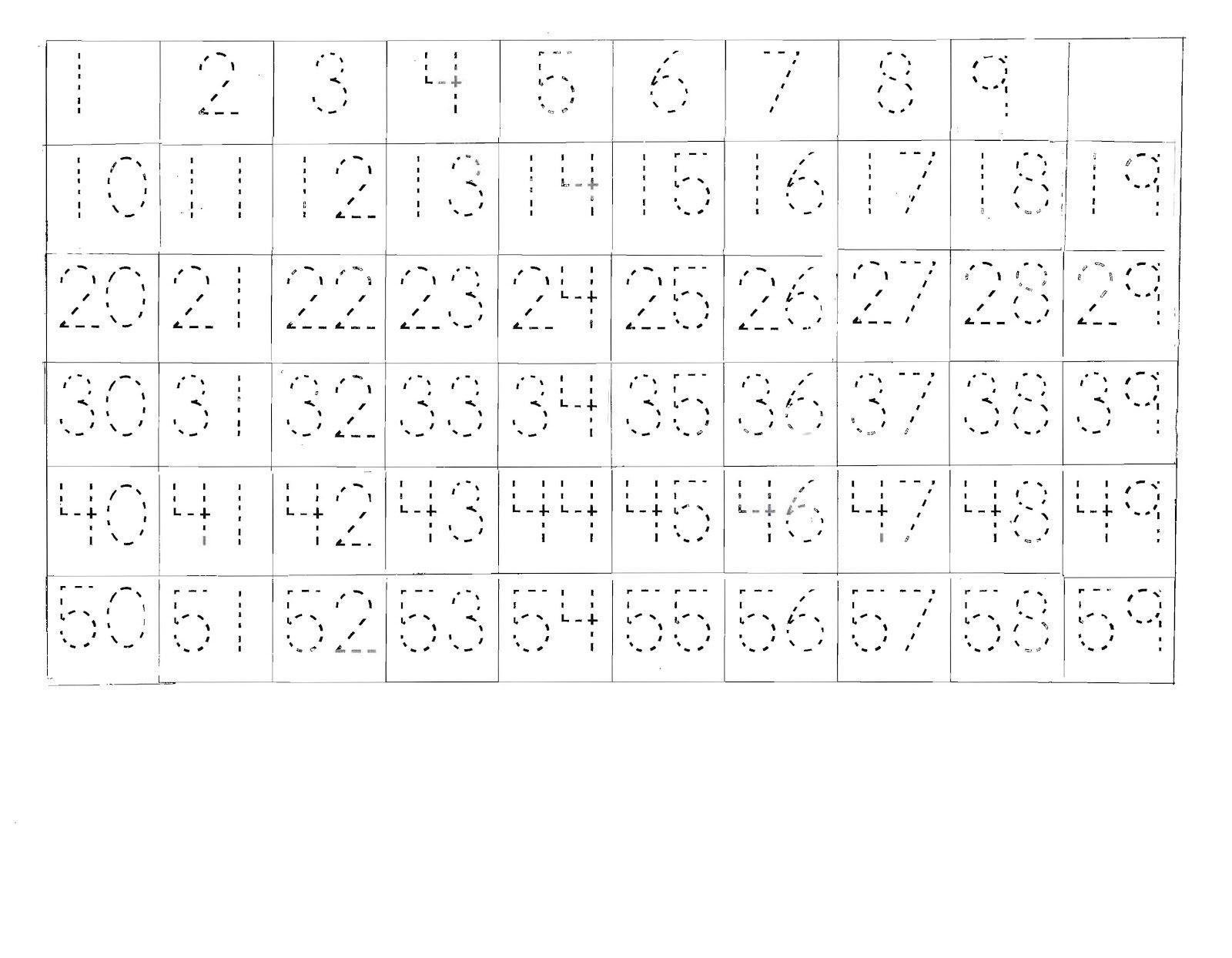 Free Printable Number Tracing Worksheets Tracing buttons Worksheets