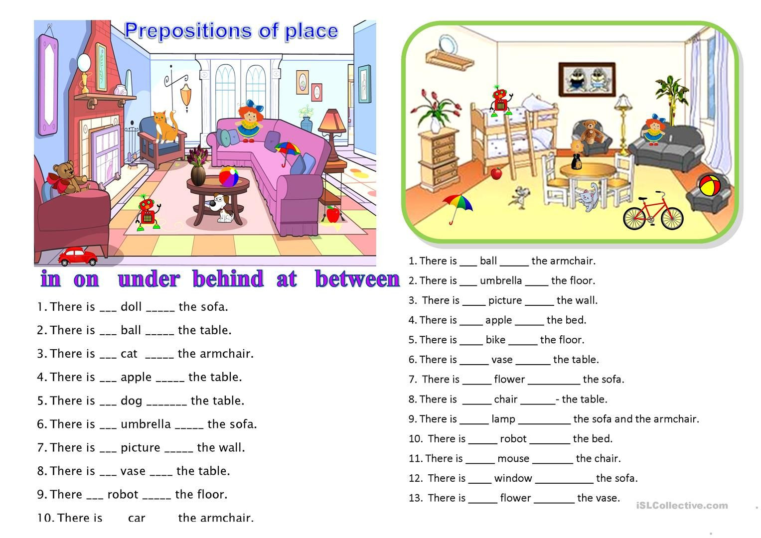 Free Printable Preposition Worksheets Prepositions Of Place Worksheet Free Esl Printable