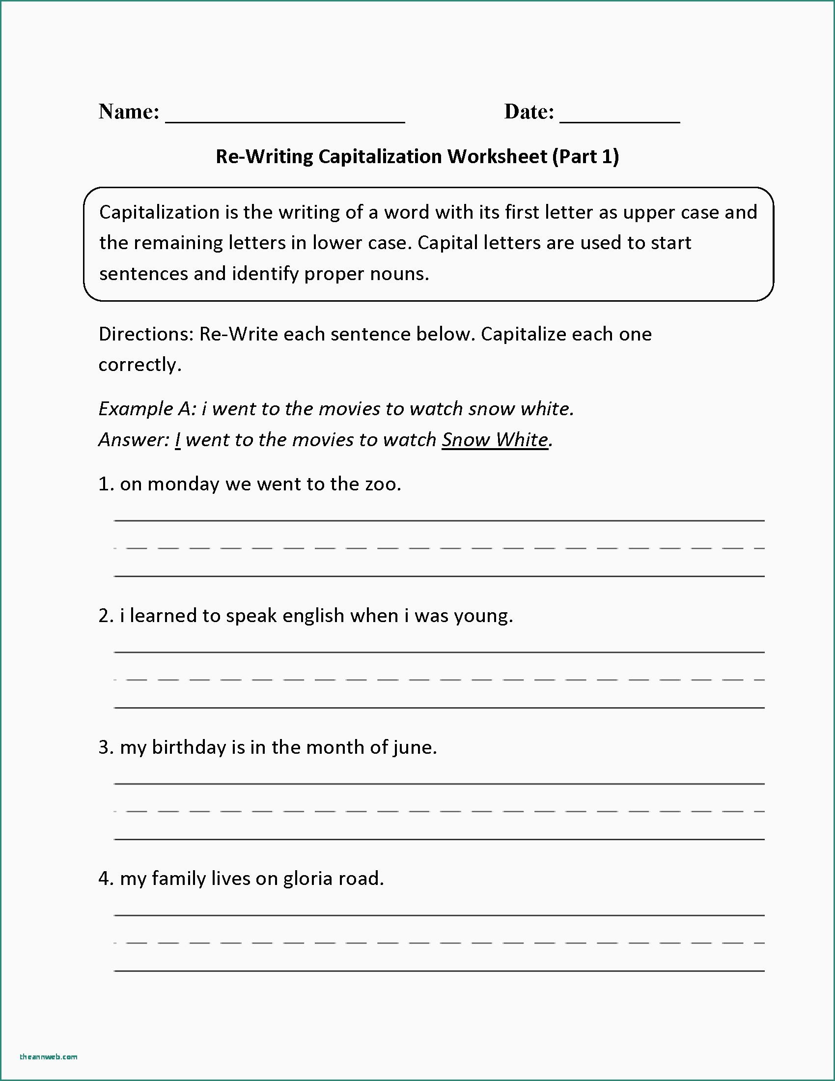 Free Printable Punctuation Worksheets Punctuation Worksheet Ged