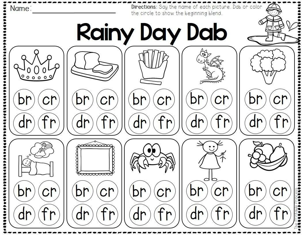 Free Printable R Blends Worksheets 3 Worksheet Consonant sounds R Blends Spring and Weather