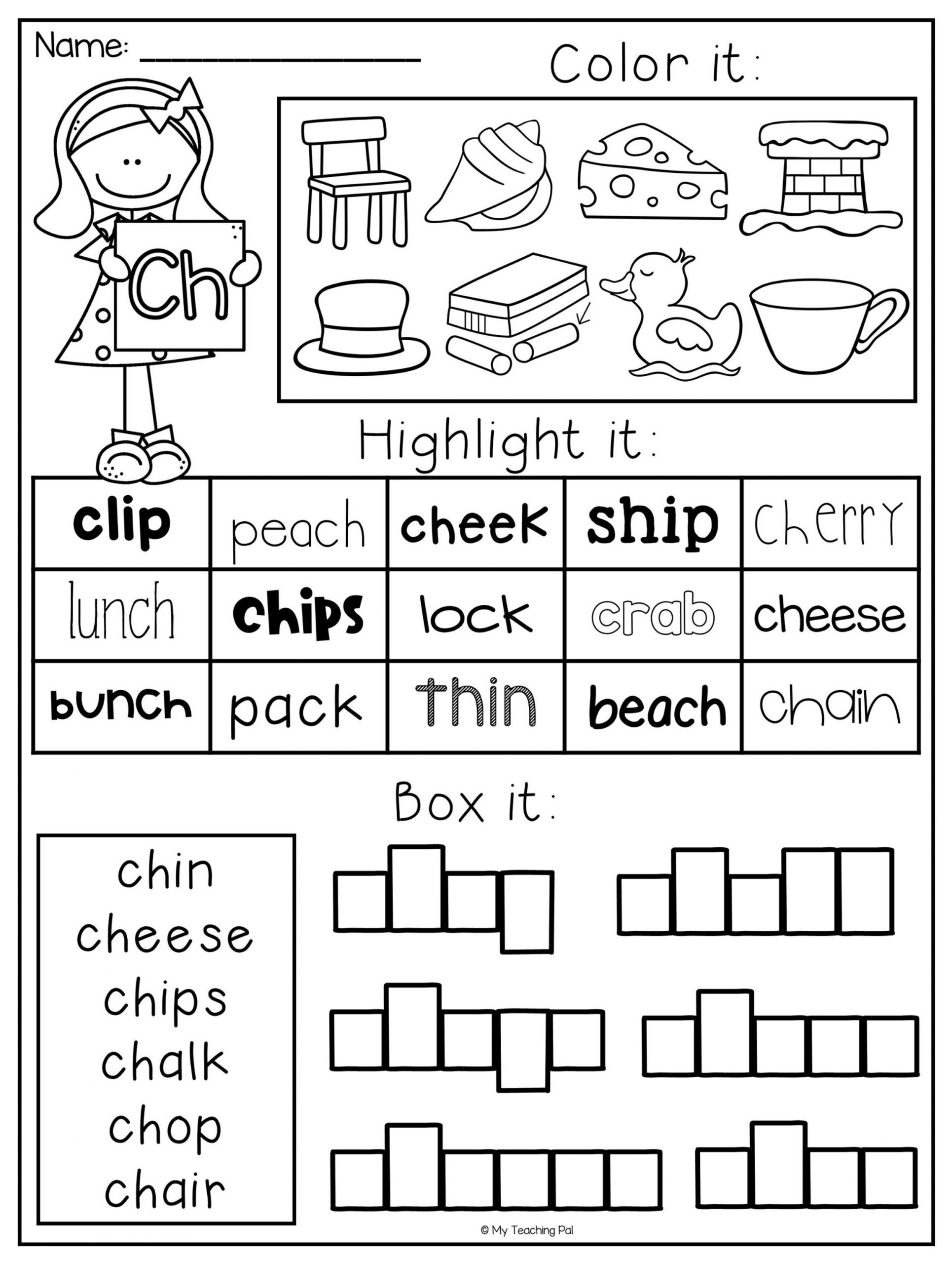 Free Printable R Blends Worksheets Digraph Worksheet Packet Ch Sh Th Wh Ph