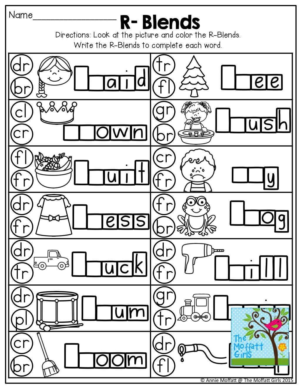 Free Printable R Blends Worksheets Pin On Letter Worksheets