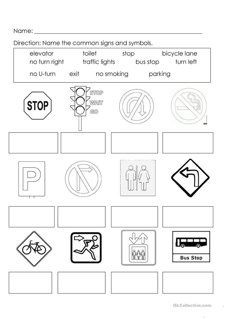 Free Printable Safety Signs Worksheets Signs and Symbols