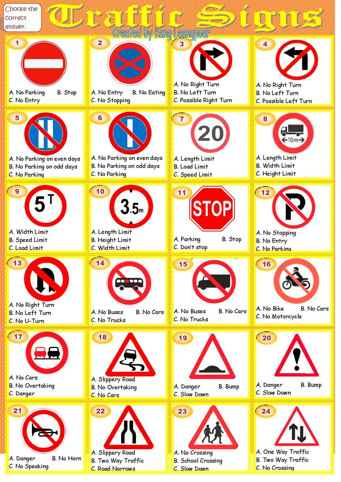 Free Printable Safety Signs Worksheets Worksheets Traffic Signs and Symbols