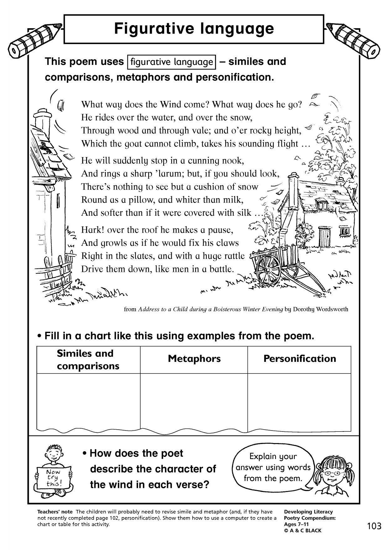 Free Printable Simile Worksheets Draw Simile Worksheet