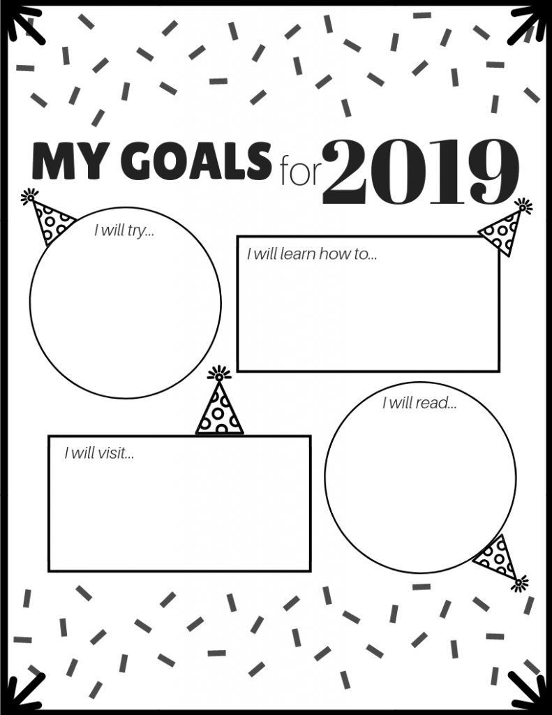 Free Printable social Skills Worksheets New Year Goal Setting for Kids with Free Printable