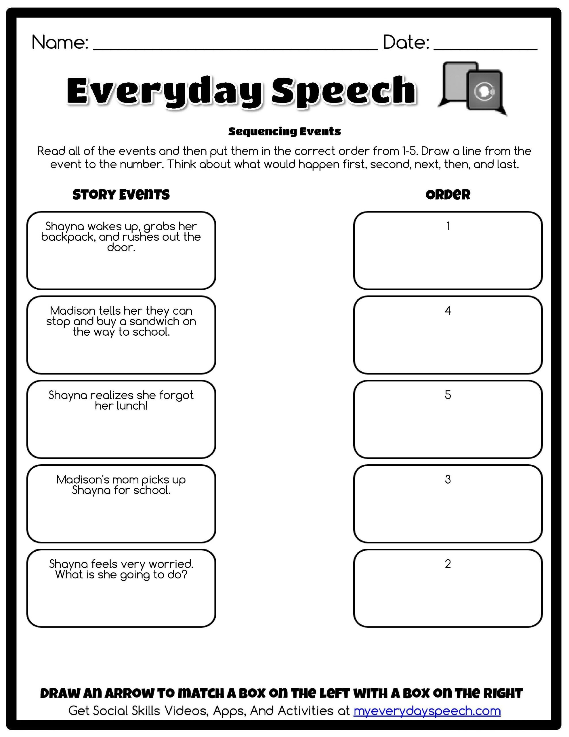 Free Printable social Skills Worksheets Worksheet Creator