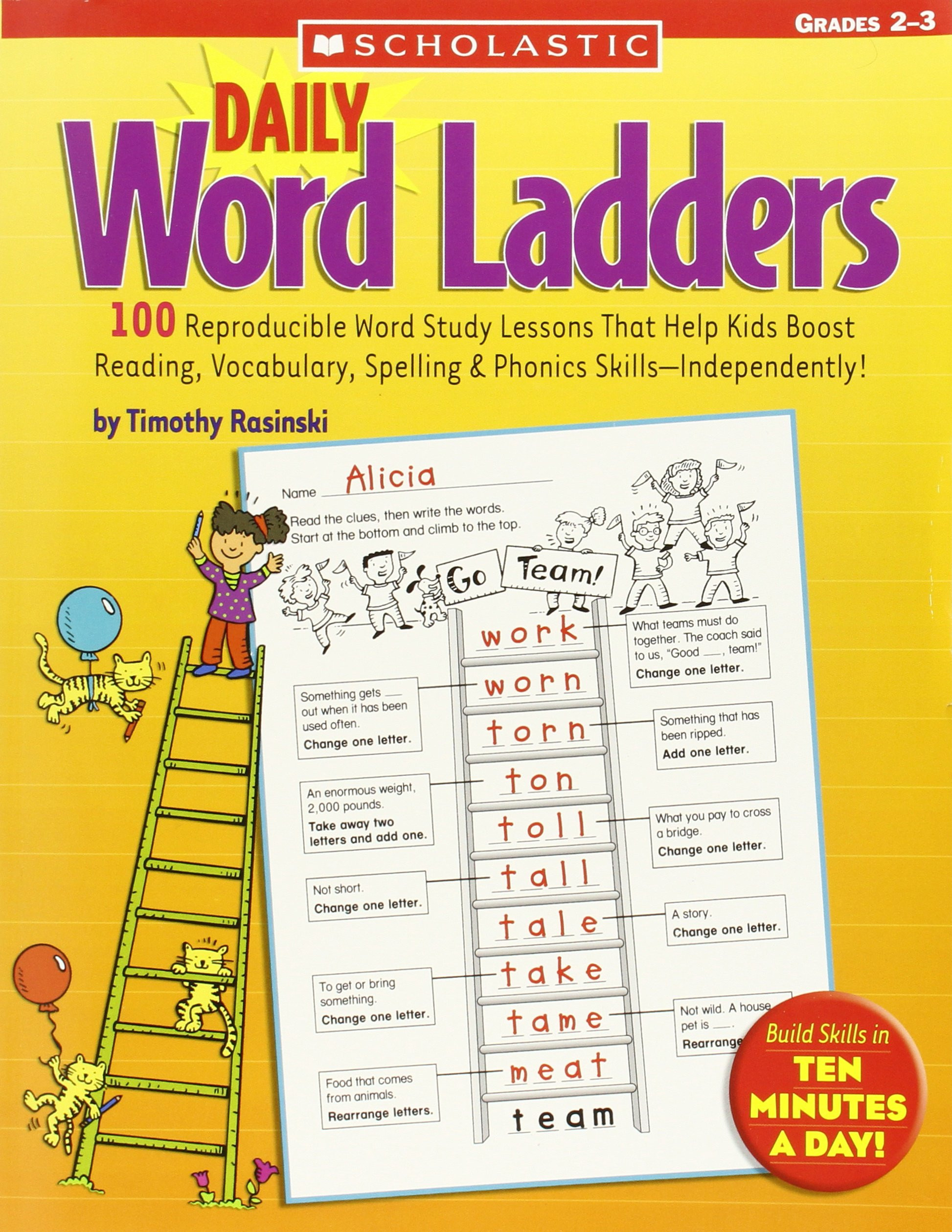 Free Printable Word Ladders Study Ladder Worksheets