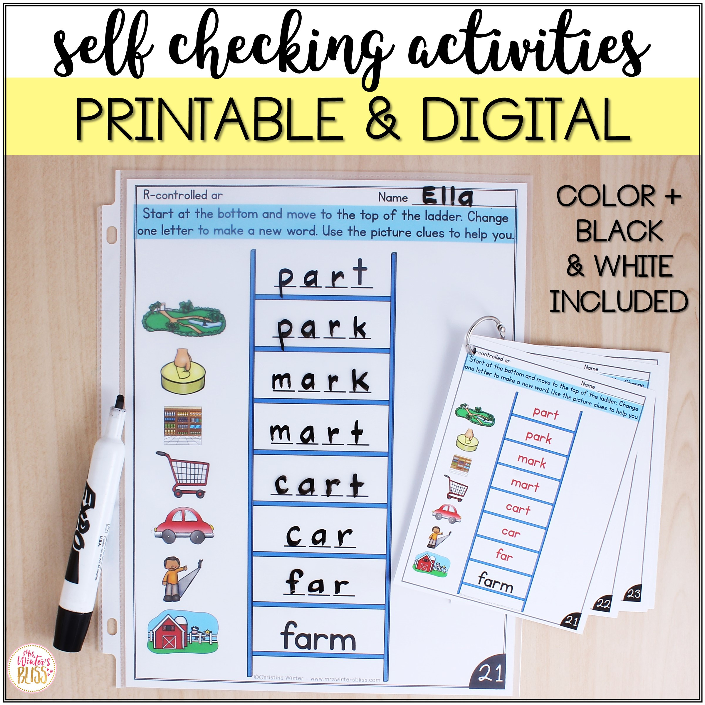 Free Printable Word Ladders Word Ladders Printable and Digital Phonics Activities for Distance Learning