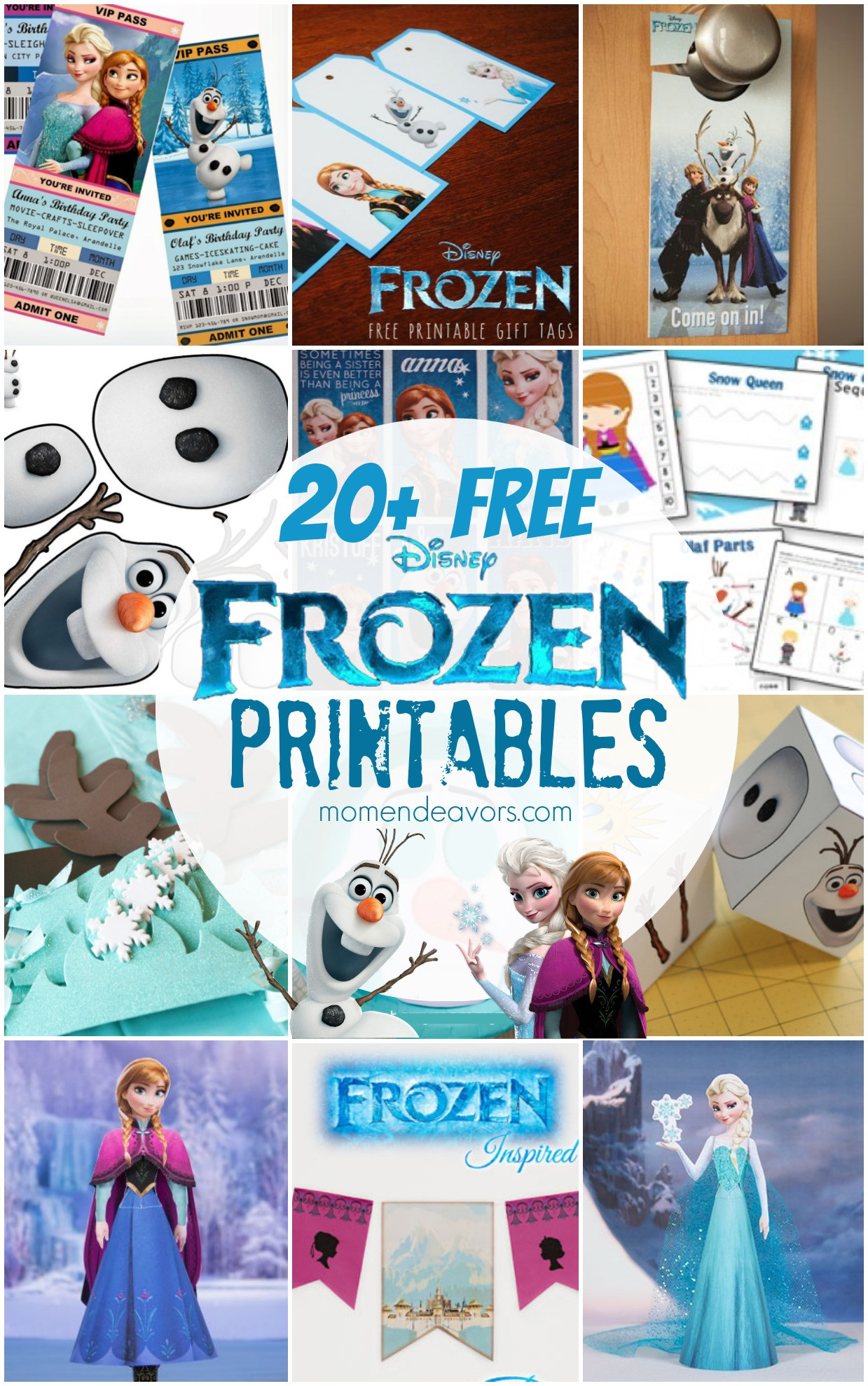 Frozen Cake toppers Printable 20 Free Disney Frozen Printables Activity Sheets & Party