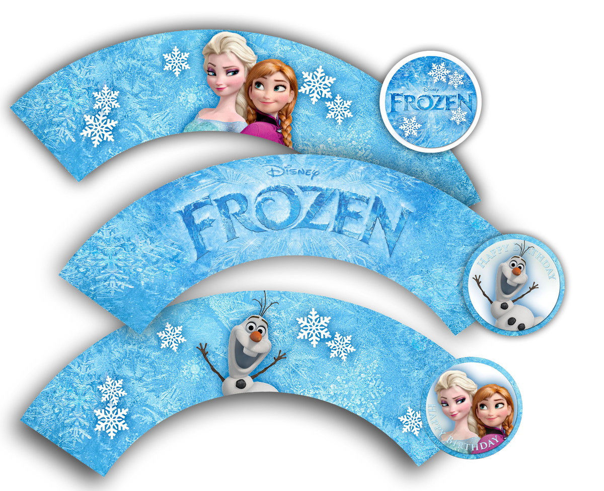 Frozen Cake toppers Printable 8 Best Of Frozen Cup Cake Printables Frozen Cupcake