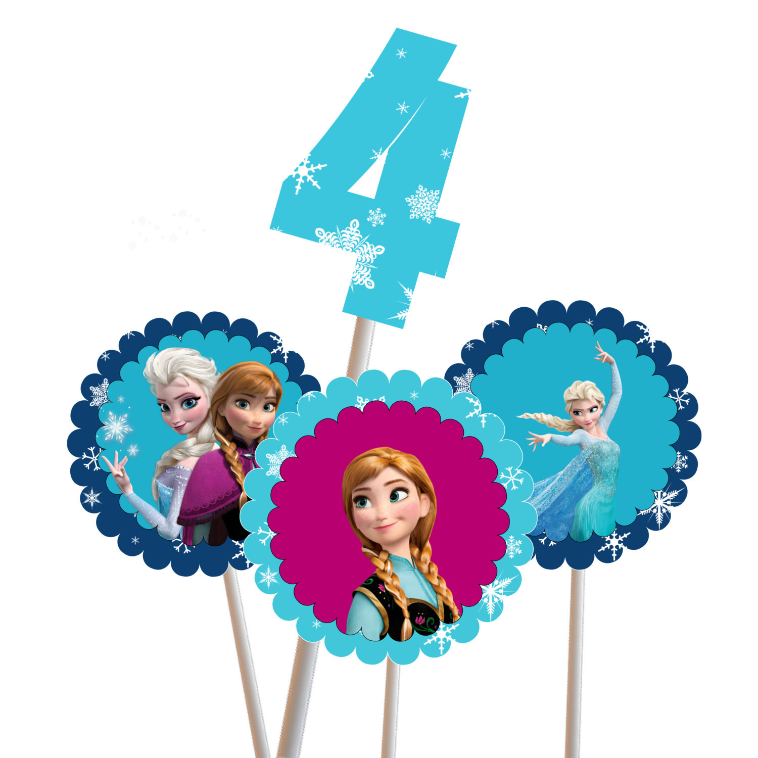 Frozen Cake toppers Printable Frozen Centerpiece Elsa Anna Magical Printable