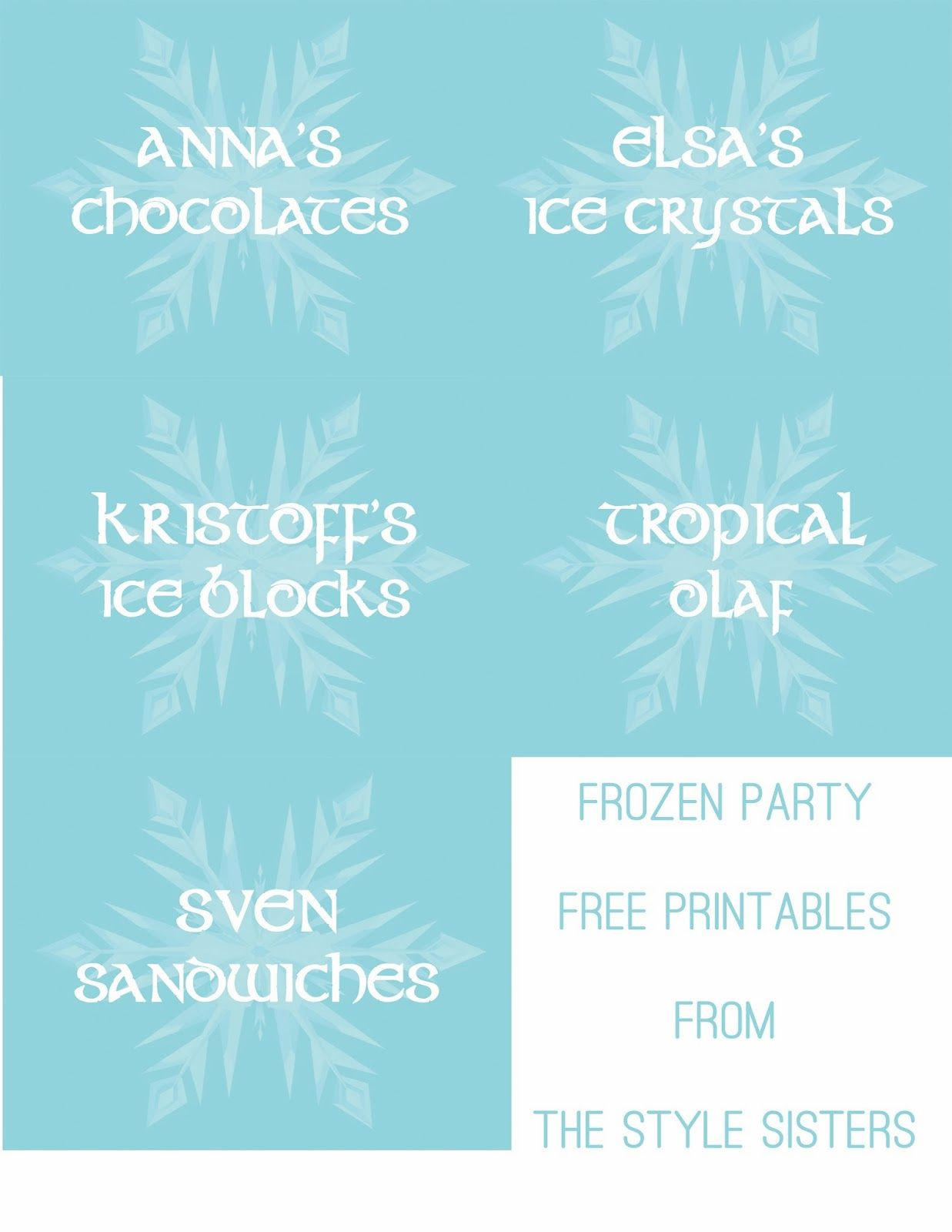 Frozen Free Printable Food Labels Disney S Frozen Party Food Labels Free Printables