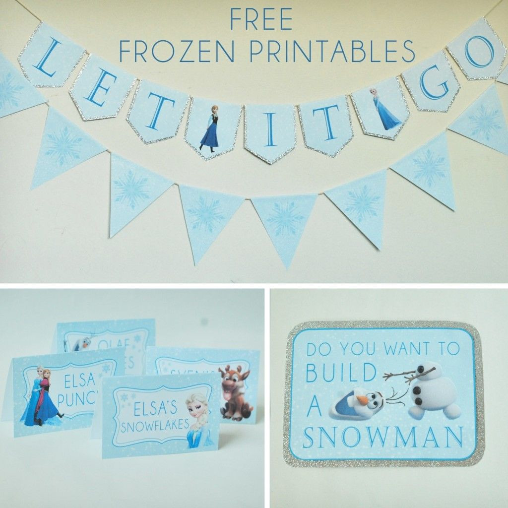 Frozen Free Printable Food Labels Free Frozen Party Printables Set Includes Let It Go Banner