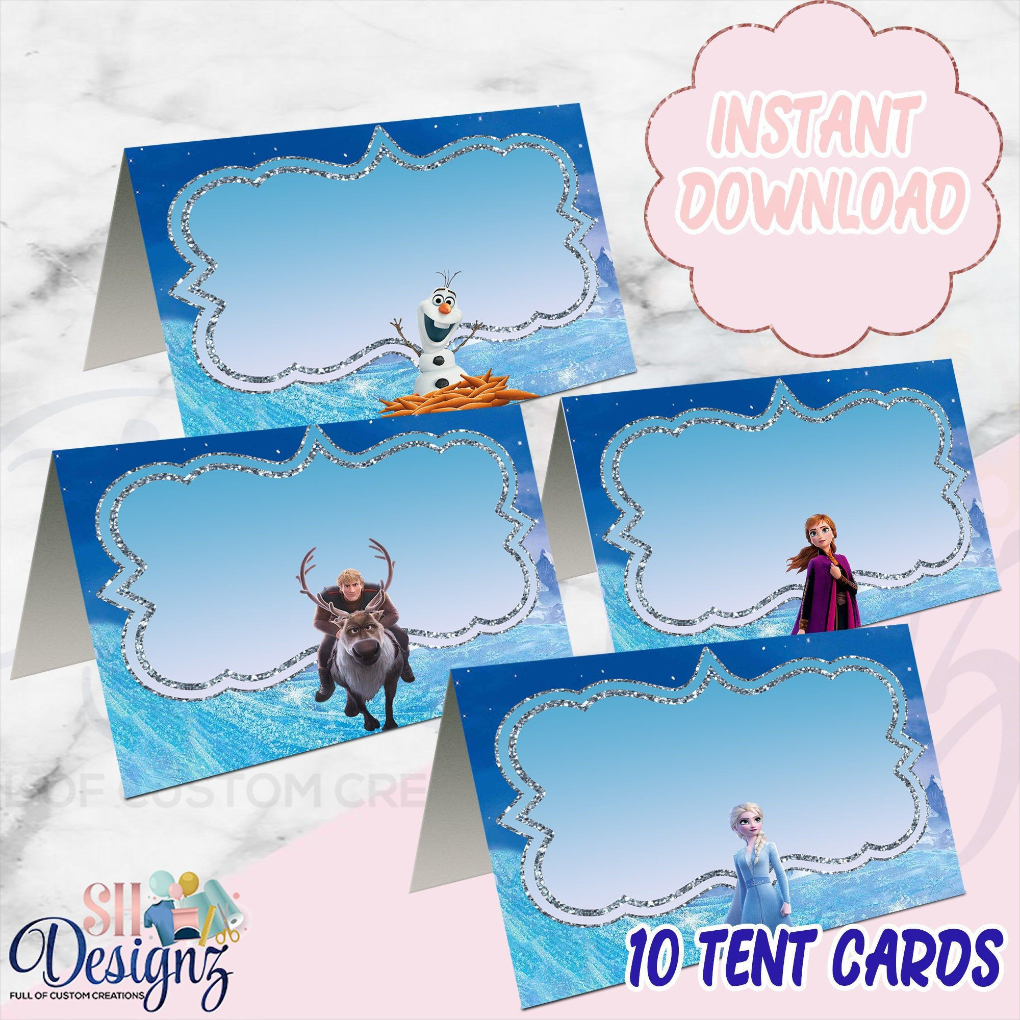 Frozen Free Printable Food Labels Frozen 2 Tent Cards Frozen Food Tag Cards Frozen 2 Food