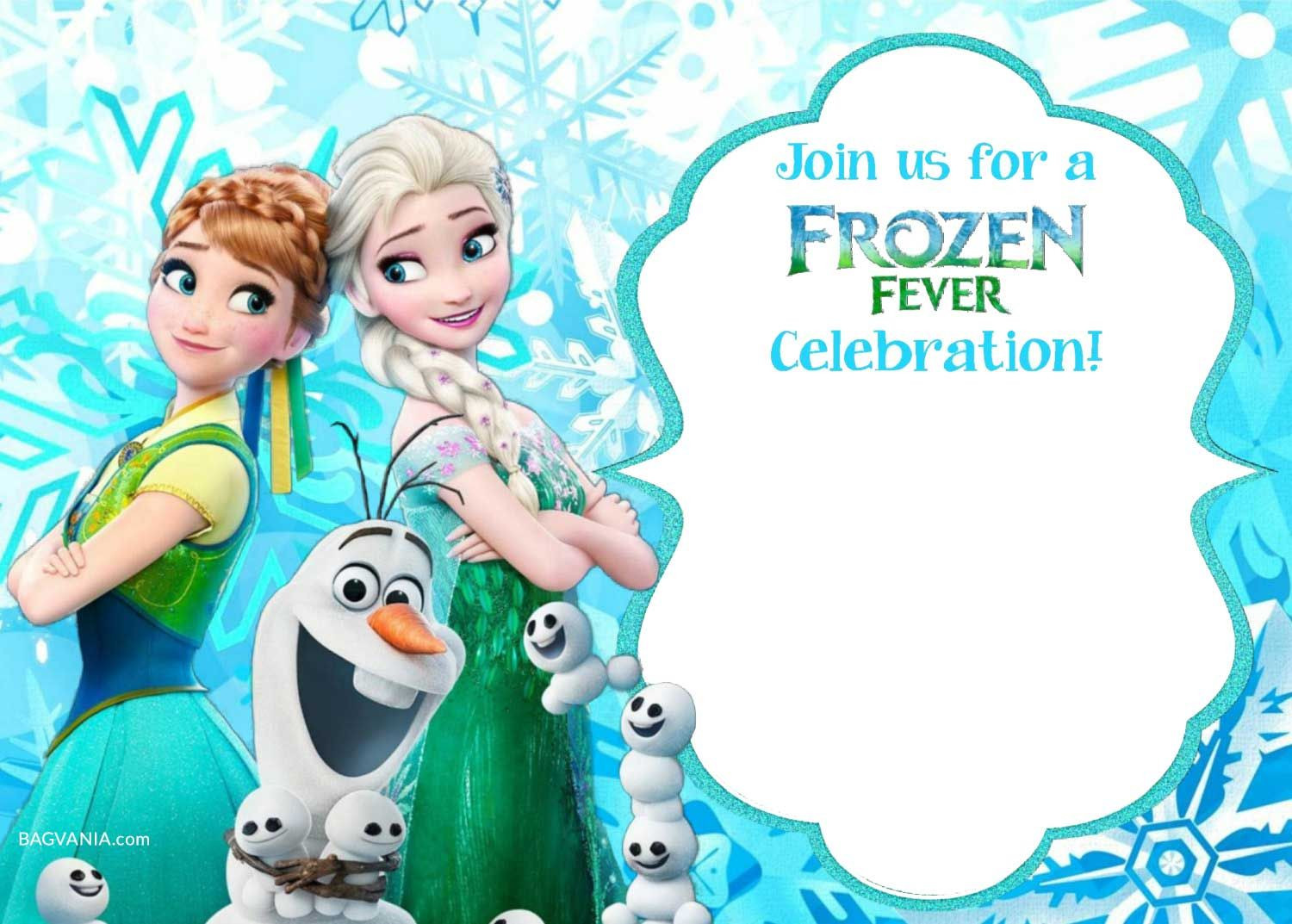 Download Now FREE Printable Frozen Invitation Templates