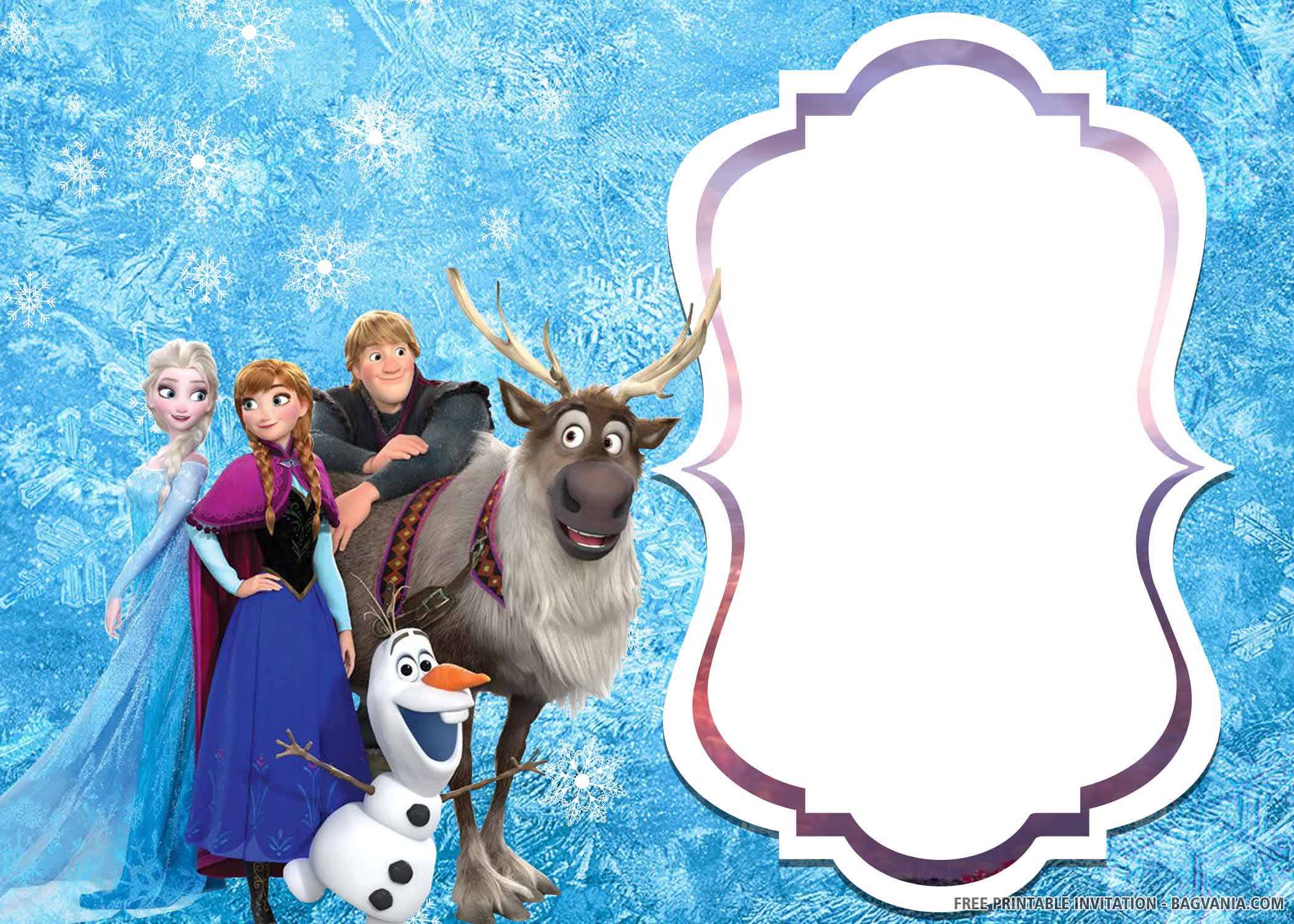 Frozen Invitations Printable Free Free Printable – Elsa Of Frozen 2 Birthday Invitation