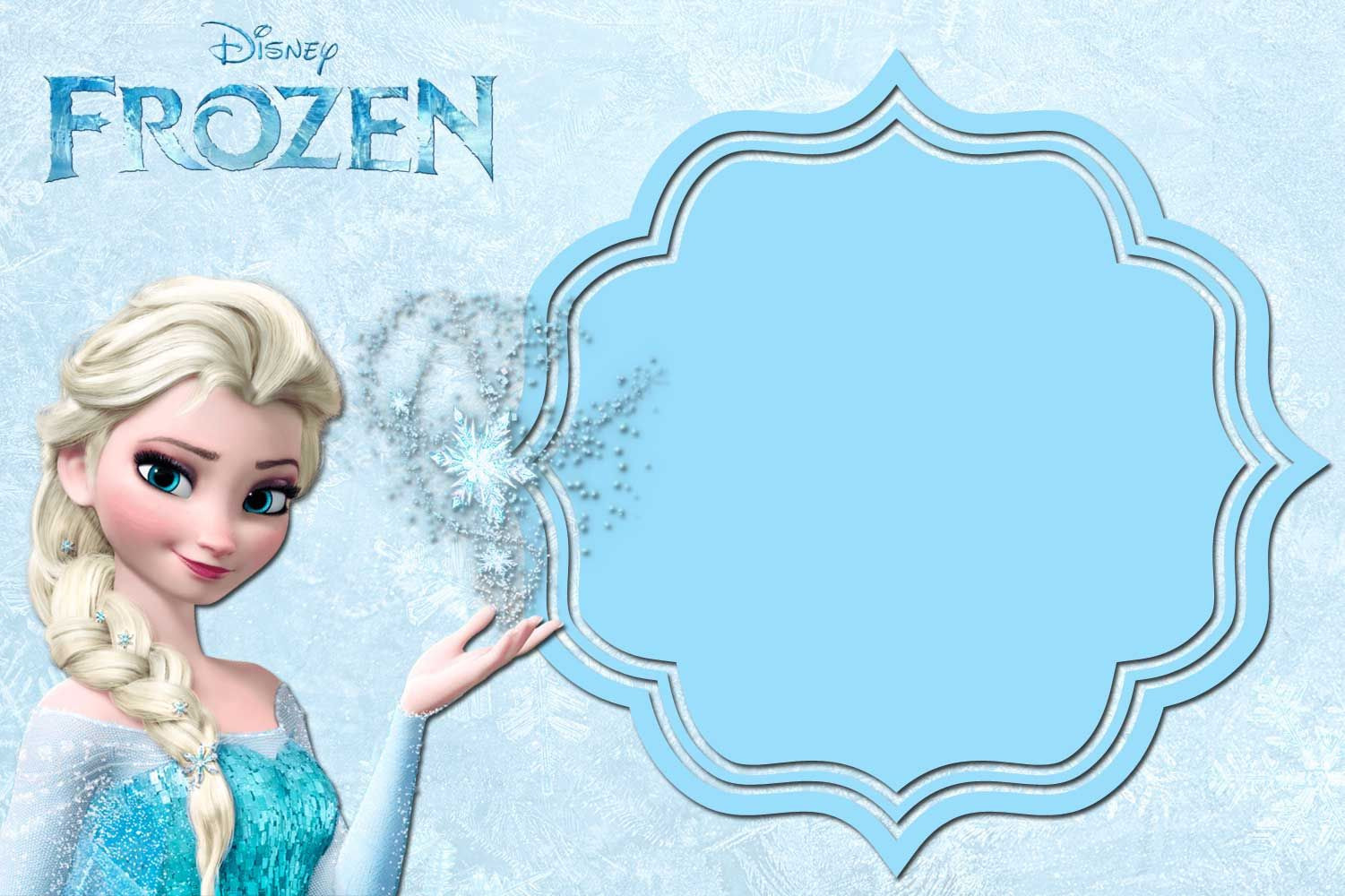 Frozen Invitations Printable Free Printable Frozen Anna and Elsa Invitation Templates