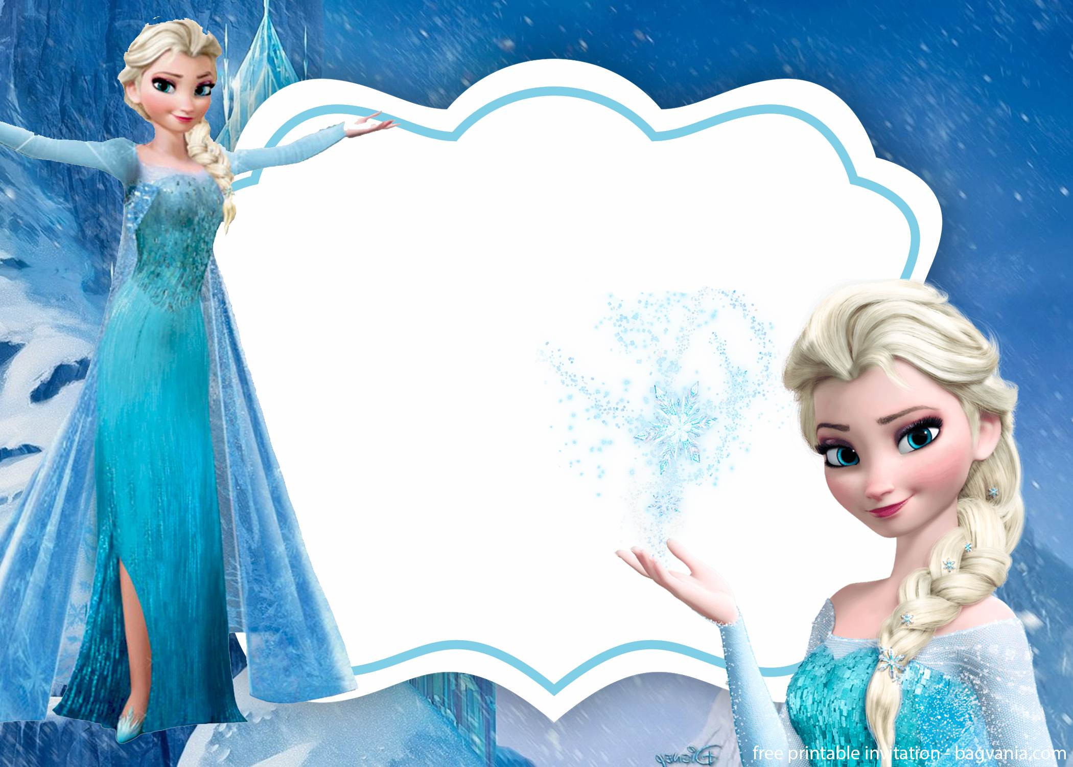 Frozen Printable Birthday Invitations Free Frozen Invitation Template – Printable – Free Printable