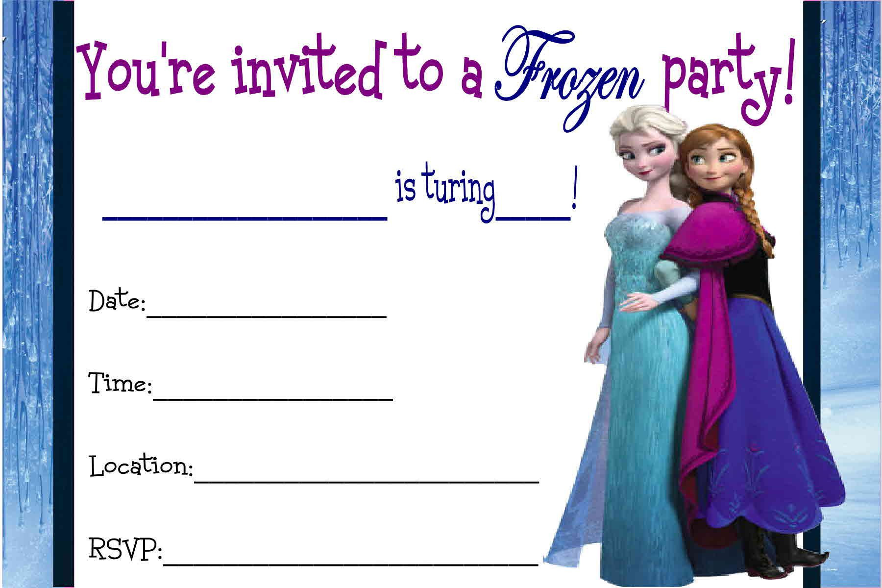 Frozen Printable Birthday Invitations Free Printable Disney Frozen Invitations
