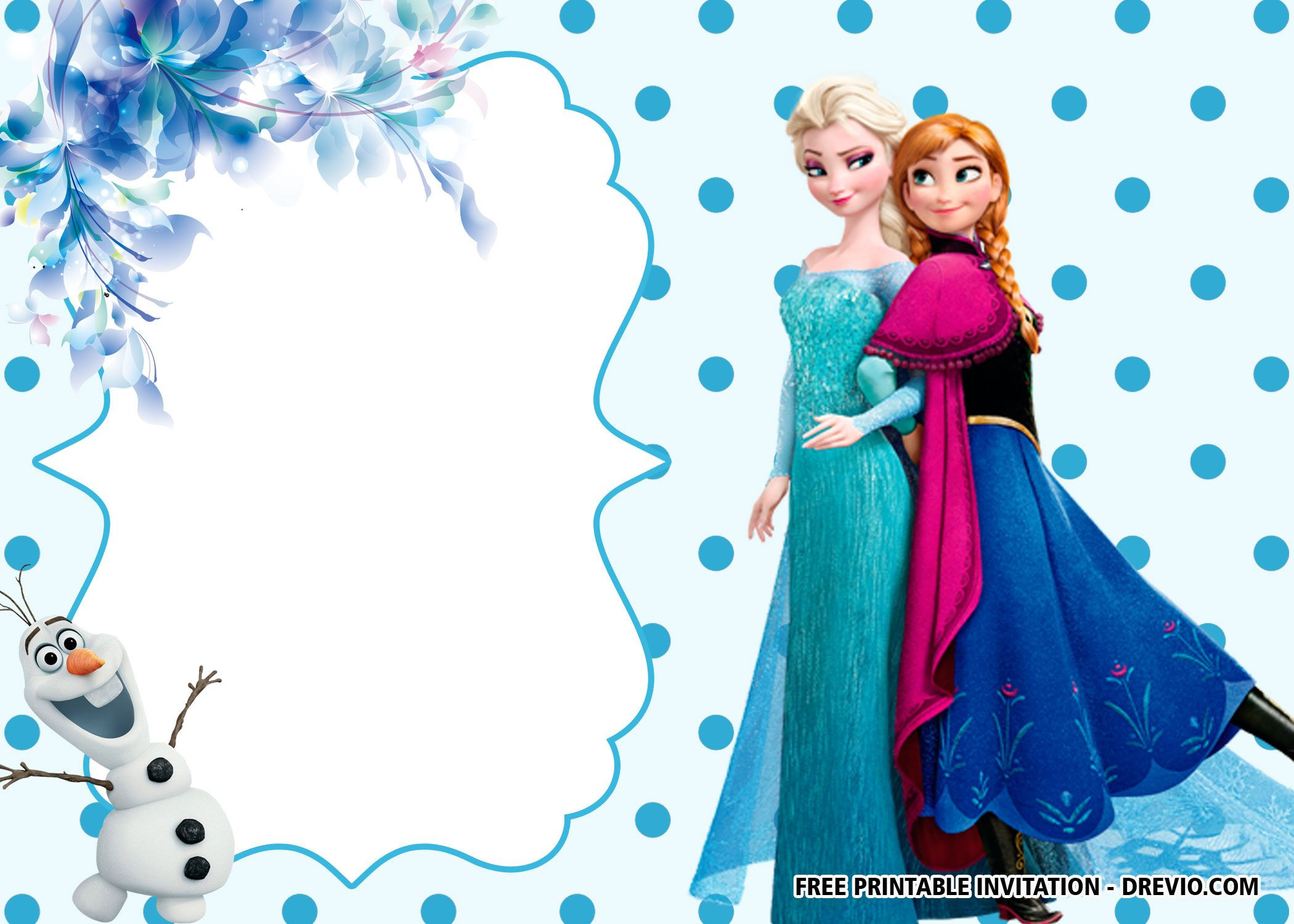 Frozen Printable Birthday Invitations Free Printable Frozen Anna and Elsa Invitation Templates