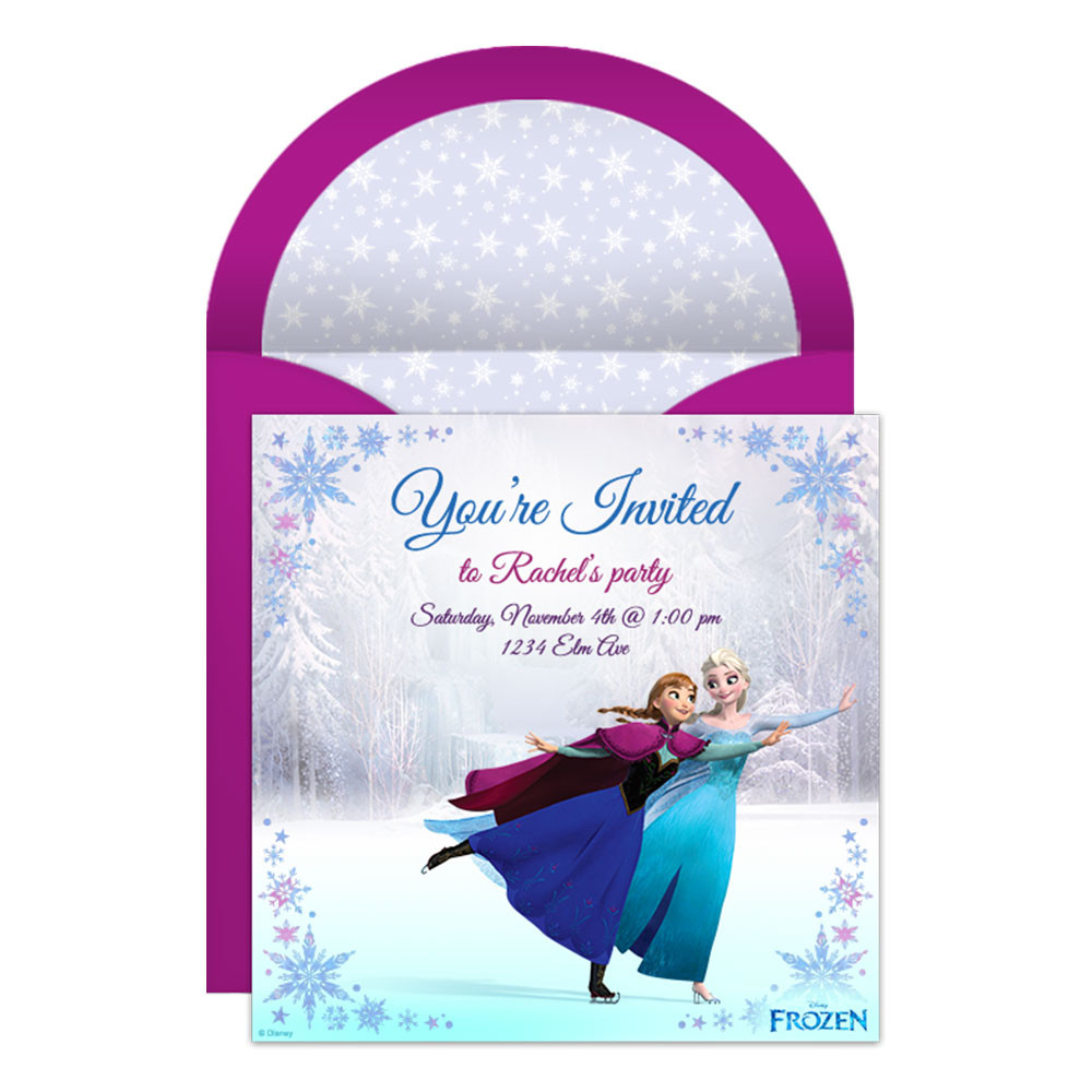 Frozen Printable Birthday Invitations Frozen Line Party Invitation