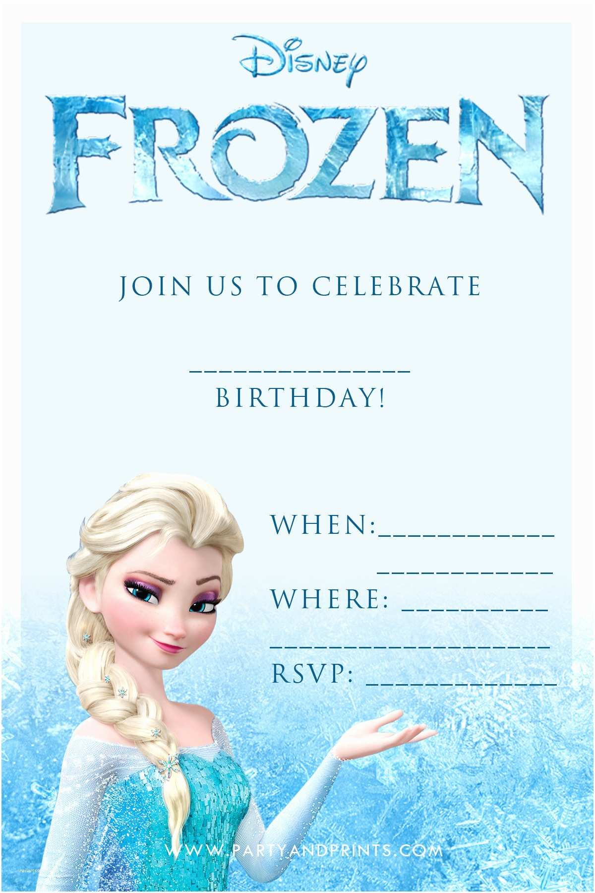 Frozen Printable Invitation Disney Birthday Invitations Free Printable Disney Frozen