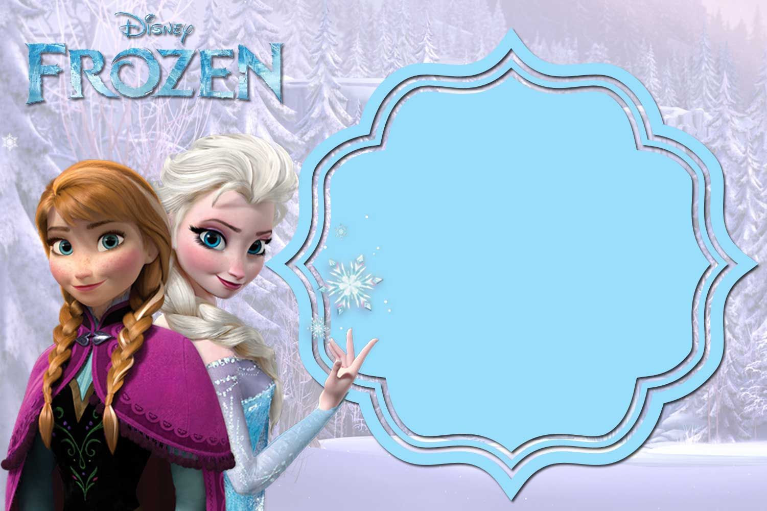 Frozen Printable Invitation Free Free Printable Frozen Invitation Templates Download