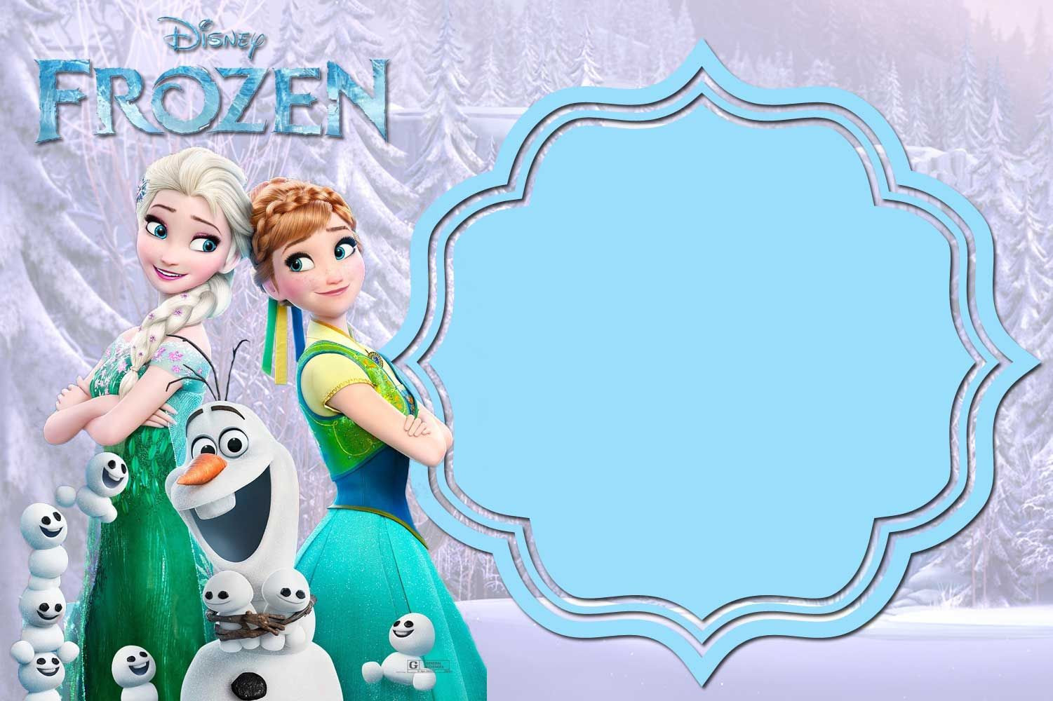 Frozen Printable Invitation Free Printable Frozen Anna and Elsa Invitation Templates