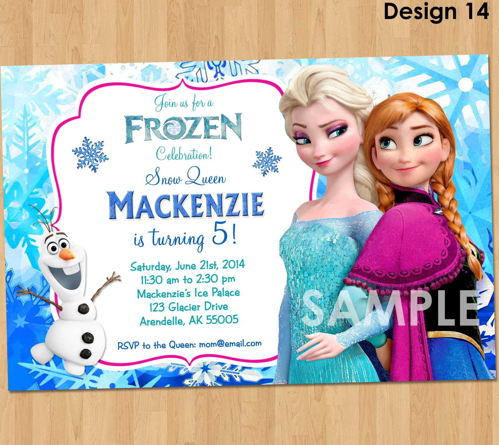 Frozen Printable Invitation Frozen Invitation Frozen Birthday Invitation Disney Frozen Party Invites Birthday Party Ideas Printable Elsa Anna Olaf