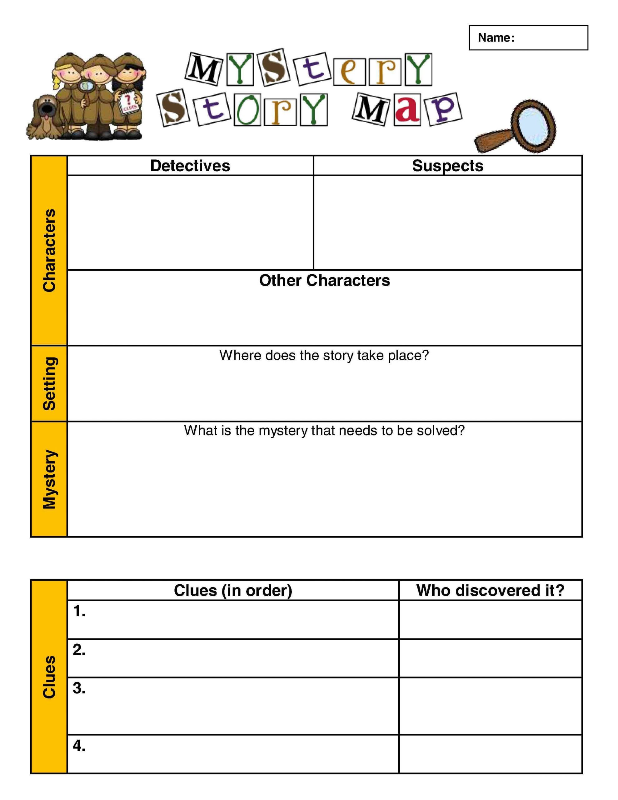 Genre Worksheets 4th Grade Investigating the Mystery Genre Scholastic