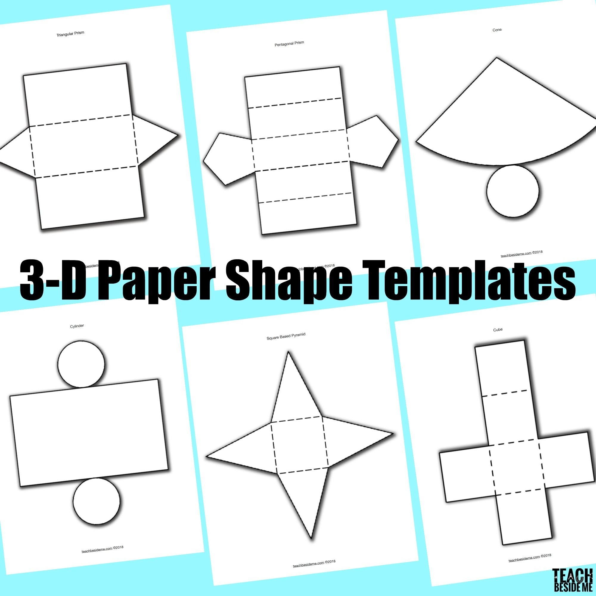 Geometry Template Printable 3 D Paper Shape Templates