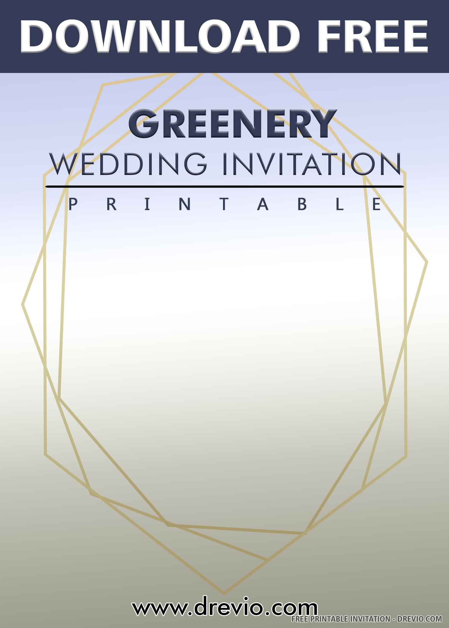 Geometry Template Printable Free Printable – Modern Geometric Greenery Wedding