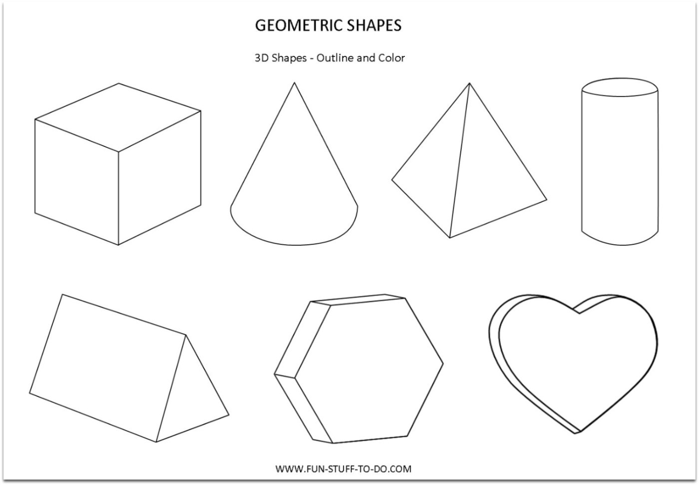 Geometry Template Printable Geometric Shapes Worksheets