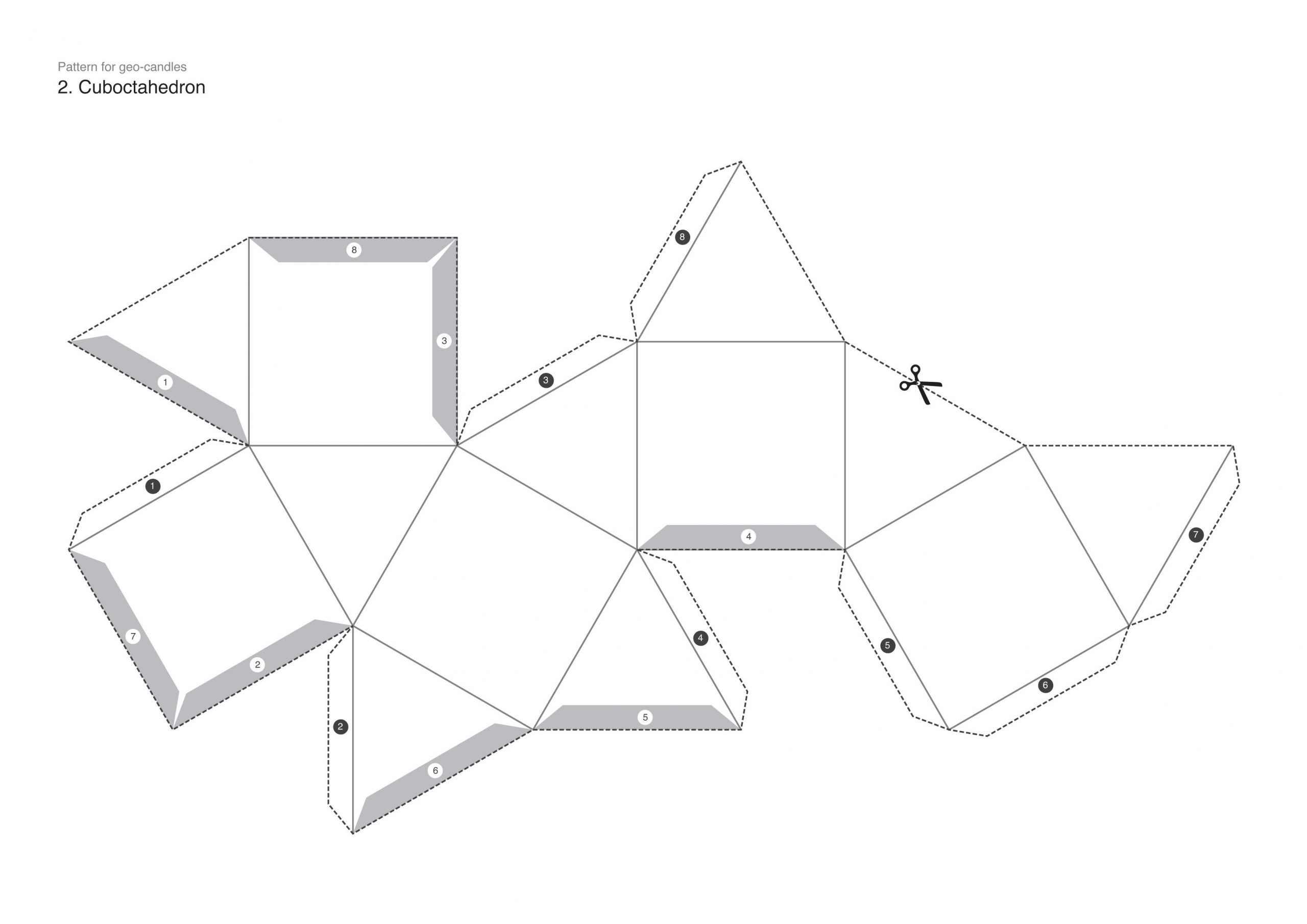 Geometry Template Printable How to Make Faceted Candles