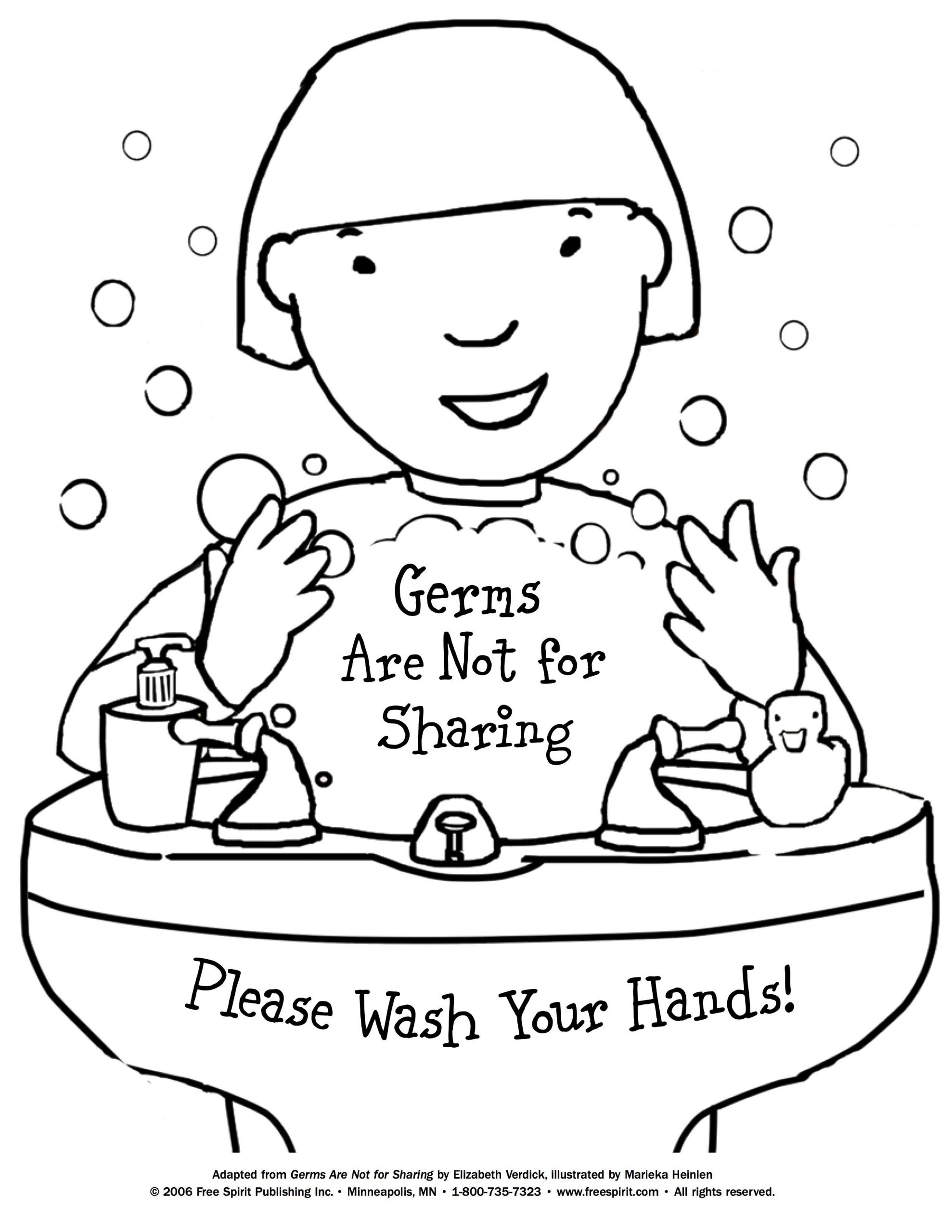 Germ Worksheets for First Grade Free Printable Coloring Page to Teach Kids About Hygiene