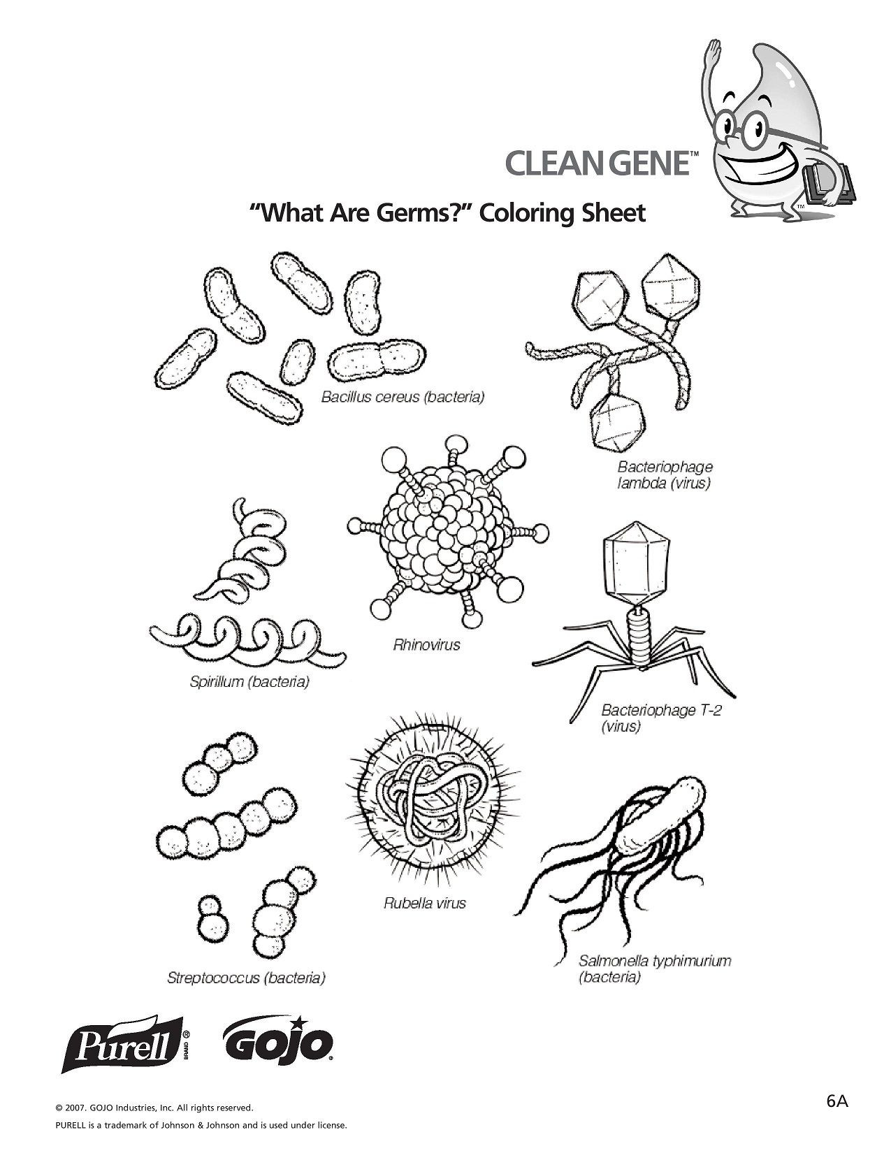 Germ Worksheets for First Grade Glo Germ Worksheet
