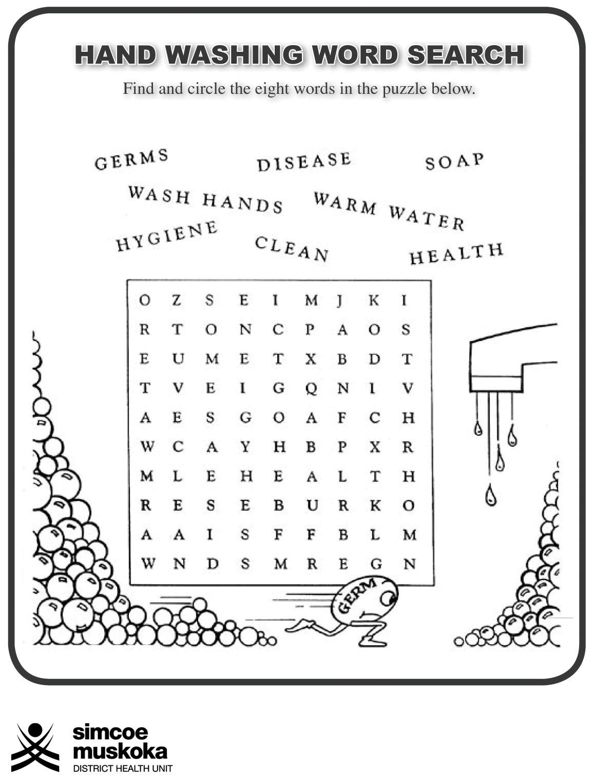 Germ Worksheets for First Grade Word Finds for Kids Actvities for Kids