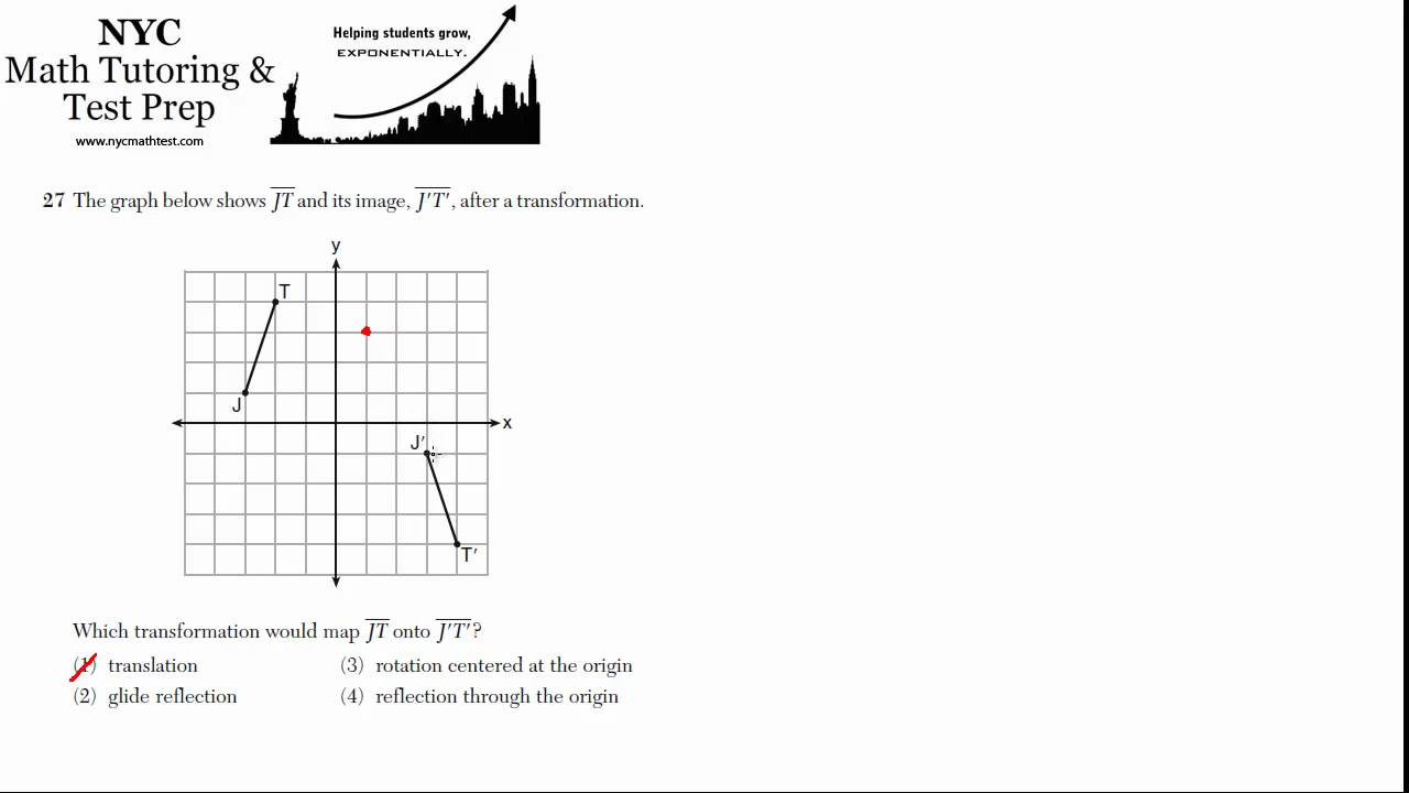Glide Reflection Math is Fun Geometry Regents June 2012 3 Worksheets Videos