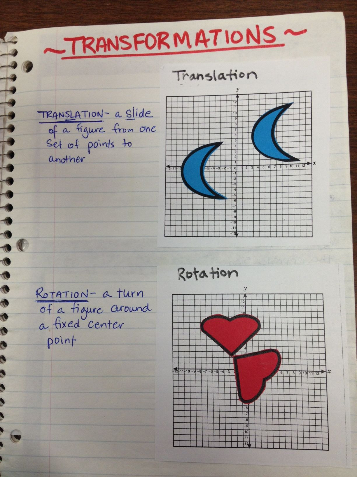 Glide Reflection Math is Fun Pin On Math Coordinate Graphing